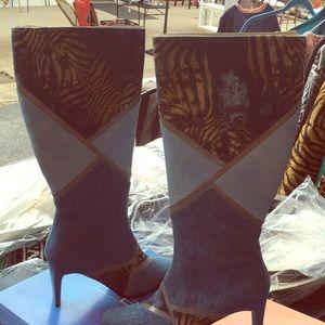 Bellini boots denim boots knee high